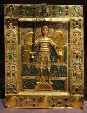 Royal Academy Byzantium exhibition: The Icon of the Archangel Michael (12th Century)