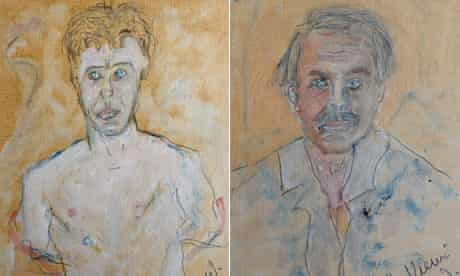 Portrait of Michael Garady and self-portrait by Tennessee Williams