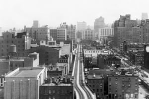 The High Line overhead railway in New York in 1934