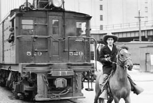 The so-called West Side cowboy, who rode in front of trains on New York's 10th Avenue to protect pedestrians. The line was later replaced by the High Line overhead railway