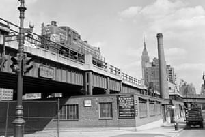 The High Line overhead railway in New York in 1953. Photograph: James Shaughnessy