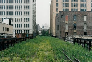 The High Line overhead railway in New York in 2000. Photograph: copyright Joel Sternfield 2000
