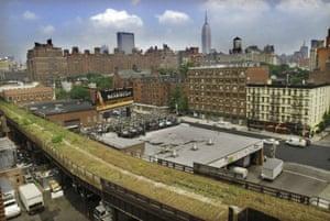 The High Line overhead railway in New York in 2003. Photograph: Bebeto Matthews/AP
