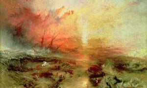 1000 artworks: Turner's Slaver Throwing Overboard the Dead and Dying, Typhoon Coming On