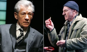 Ian McKellen in The Cut and Patrick Stewart in A Life in the Theatre