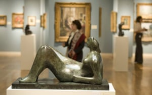 Working Model for Draped Reclining Figure by Henry Moore is shown during a press preview October 29, 2008 at Sotheby's in New York