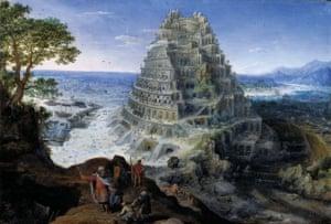 The Tower of Babel; 1595, Oil on panel. Artist: Lucas van Valckenborch