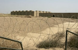 Barbed wires are seen in front of the Archeological site of Babylon about 80 kilometers, 50 miles, miles south of Baghdad, Iraq