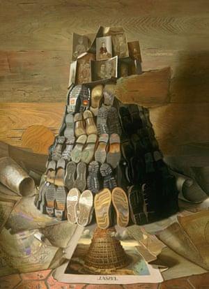 Tower of Babel/Der Turm Babel; 2001, Oil on canvas. Artist: Michael Lassel