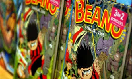 The Beano annual 2006 on sale in Borders bookshop