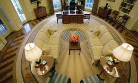 The Oval Office at the White House in 2008