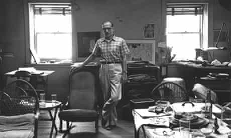 Saul Steinberg at home in 1947.
