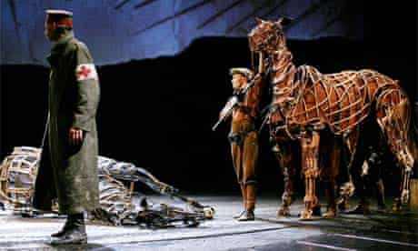 War Horse at the National Theatre. Photograph: Graeme Robertson