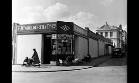 Woolworths shop in Plymouth, 1954