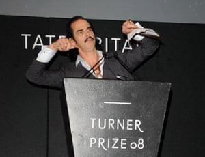 Nick Cave announces the Turner prize 2008 winner