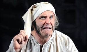 John Ramm as Scrooge in A Christmas Carol at the Rose in Kingston