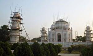 Ahsanullah Moni's full-scale replica of the Taj Mahal in Bangladesh