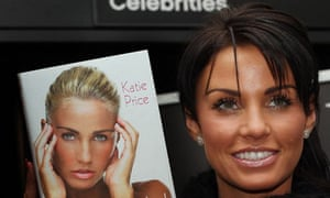 Katie Price poses with her book Jordan: Pushed to the Limit