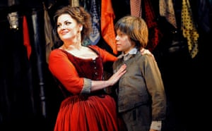 Jodie Prenger as Nancy and Laurence Jeffcoate as Oliver in Oliver!