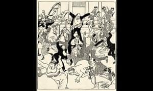 Schoenberg caricature from Die Zeit, 1913