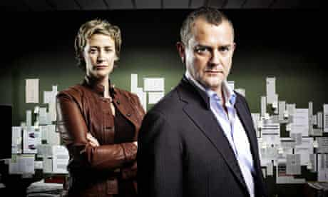 Iain Barclay -Hugh Bonneville - and Amy Foster - Janet McTeer - in Hunter, BBC1