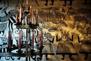 Gallery Khadambi Asalche's home: Khadambi Asalche's home: candelabra