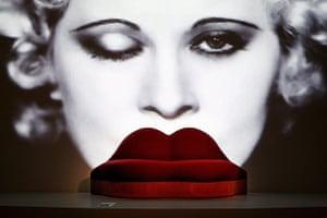 Salvador Dali's Mae West Lips Sofa