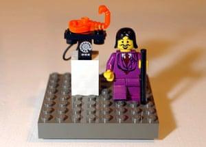 A Lego model of Salvador Dali
