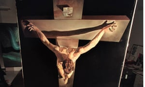 Dali's Christ of St John of the Cross (detail) worked on by conservator Polly Smith
