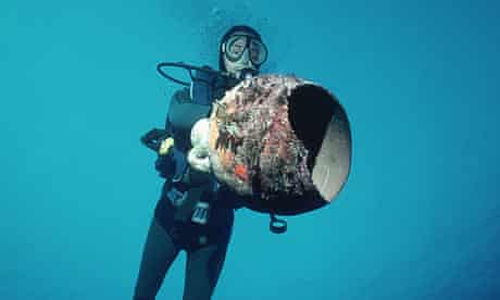 Diver with a greek amphora