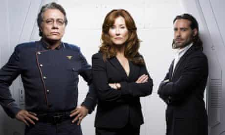 Battlestar Galactica: Edward James Olmos, Mary McDonnell and James Callis