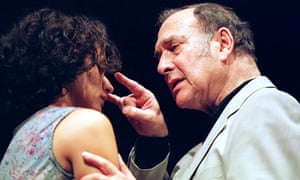 Indira Varma and Harold Pinter in One For the Road at the Gate, Dublin in 2001
