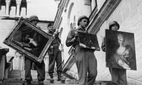 US soldiers carrying looted art discovered in Austria