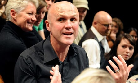 Tim Crouch, centre, in The Author at the Royal Court