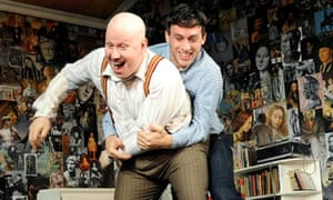 Matt Lucas as Kenneth Halliwell and Chris New as Joe Orton in Prick Up Your Ears