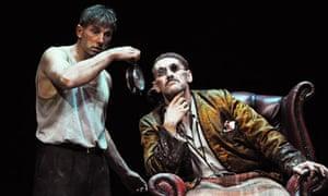 Simon McBurney (Clov) and Mark Rylance (Hamm) in Endgame