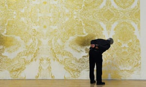 Richard Wright's gold-leaf mural at the Tate Britain for the annual Turner prize