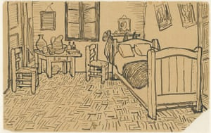 Sketch sent with a letter from Vincent van Gogh to his brother Theo, Arles, 16 October 1888