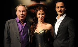 Andrew Lloyd Webber with the stars of Love Never Dies