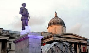 Statue of Sir Keith Park on the fourth plinth in Trafalgar Square