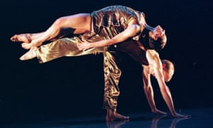 Pari Naderi dances with David Mccormick in the RADC's Fever at the Queen Elizabeth Hall, London