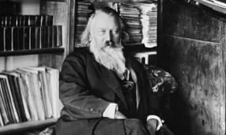 Johannes Brahms Seated In Home Library