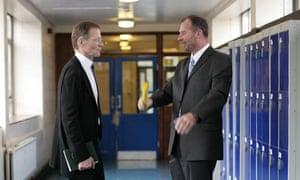 Nicholas Serota from the Tate with headteacher Rob Thomas at Thomas Tallis School