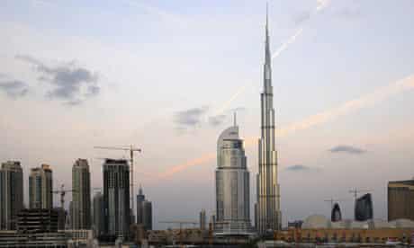 The Burj Dubai, the world's tallest skyscraper
