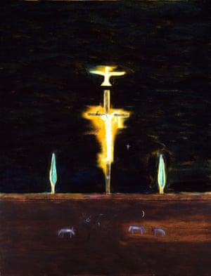 Craigie Aitchison: Crucifixion by Craigie Aitchison