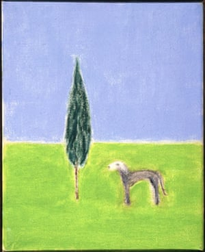 Craigie Aitchison: Cypress Tree and Bedlington by Craigie Aitchison