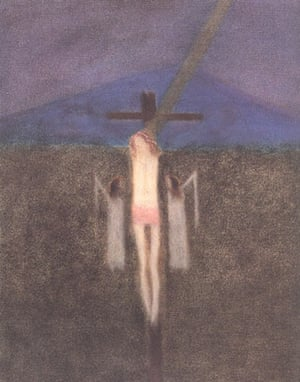 Craigie Aitchison: Crucifixion 1964 by Craigie Aitchison