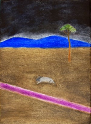 Craigie Aitchison: Ram in a Landscape by Craigie Aitchison