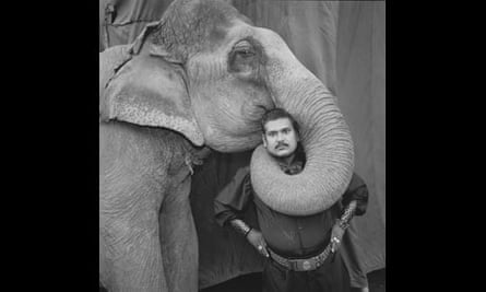 Mary Ellen Mark: Animal Trainer with elephant