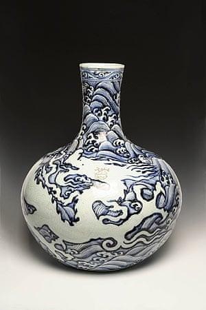 Shah Abbas: Porcelain flask